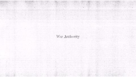 War Authority by Matthew Palmer